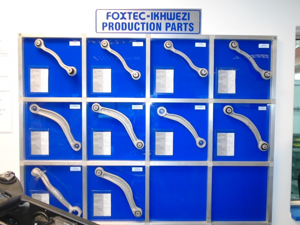 Foxtec Ikhwezi's Production parts on display