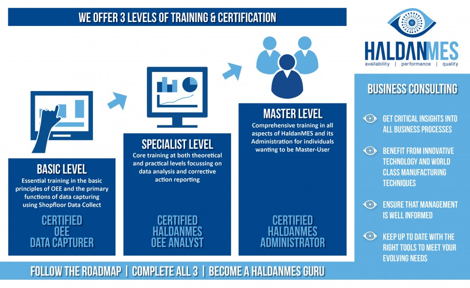 HaldanMES Training Courses on three levels of certification