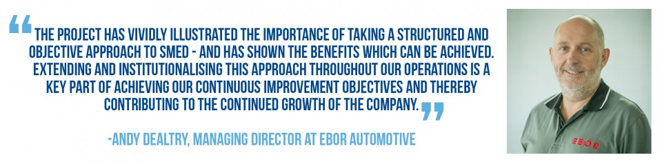 Andy Dealtry, MD at Ebor Automotive, talks about their SMED Tool Changeover project