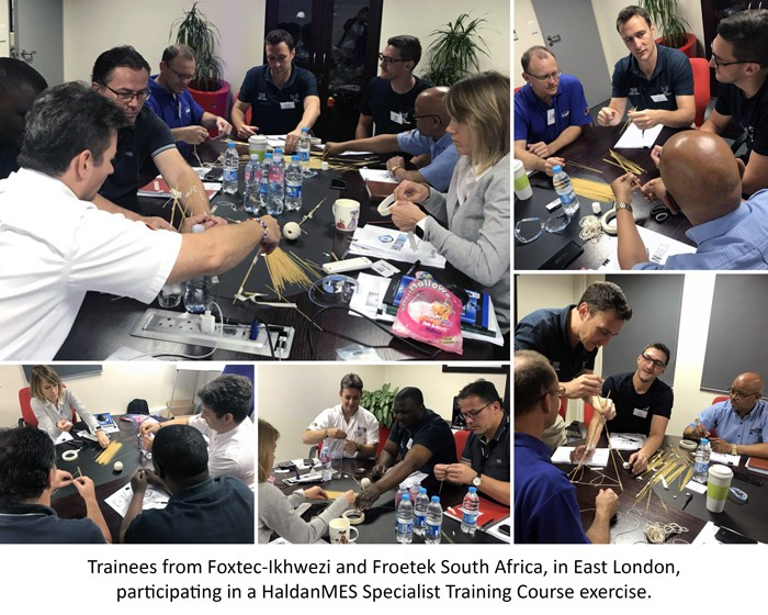 Trainees from Foxtec-Ikhwezi and Froetek South Africa, in East London, participating in a HaldanMES Specialist Training Course exercise.